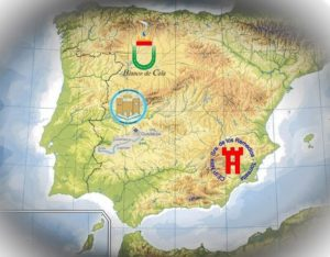 Mapa de España que permite localizar los centros participantes