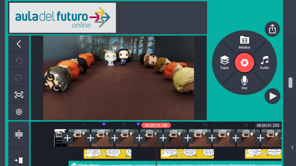 Imagen de un timelapse con muñecos