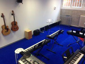 Pianos y guitarras eléctricas