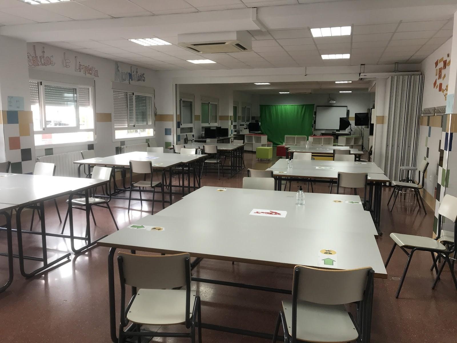 Foto de una parte del aula
